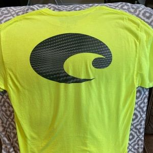 Costa Del Mar Neon Yellow T-Shirt Size Large